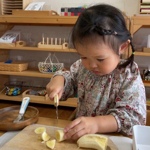 201101バナナを切る_イメージ画像